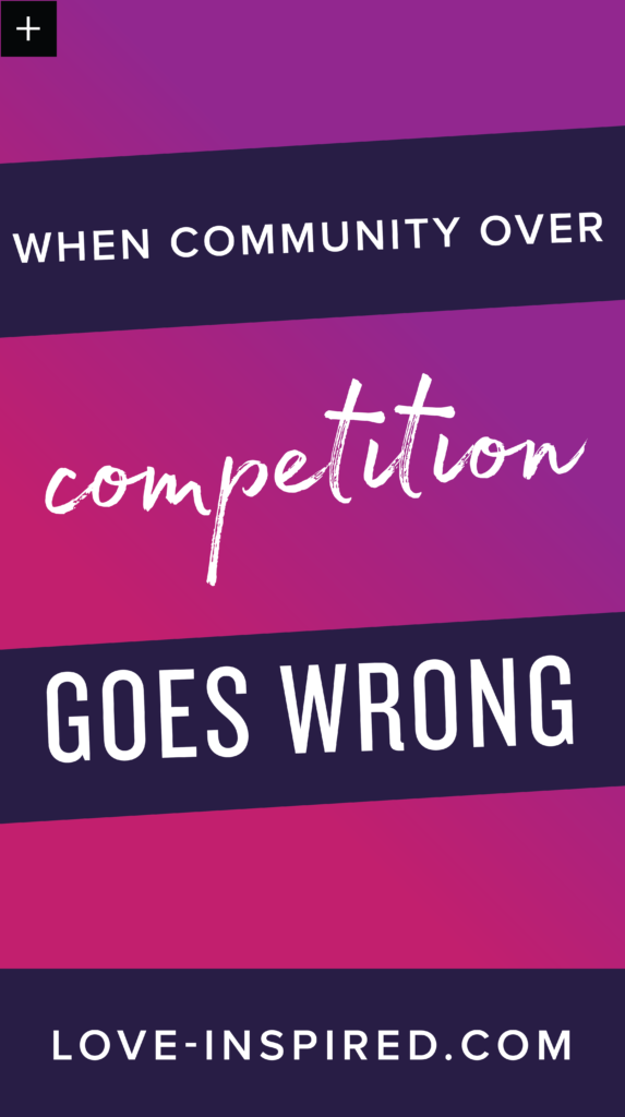 when community over competition goes wrong