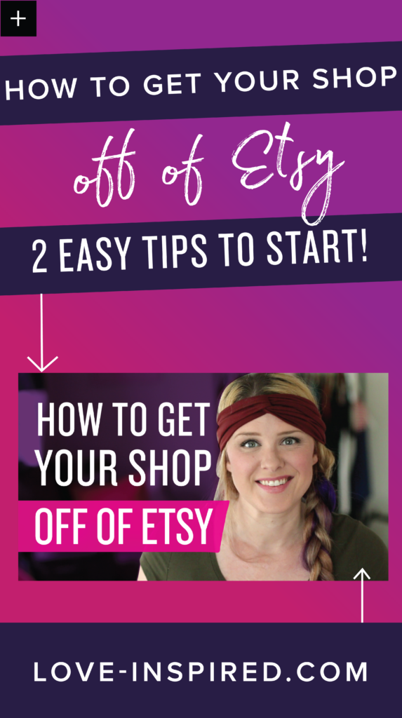 How to get your shop off etsy