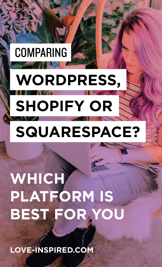 Which website platform is best for my small business? WordPress, Shopify or Squarespace?