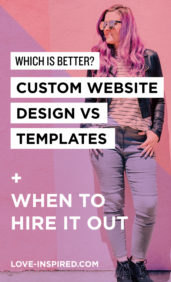 Custom Website Design Vs Templates - When to hire a website designer / web developer
